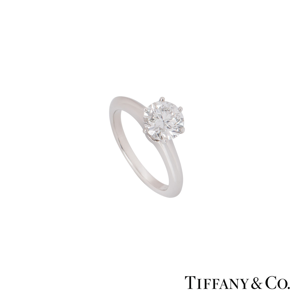 Tiffany & Co. Platinum Diamond Setting Ring 1.42ct G/VS2 XXX